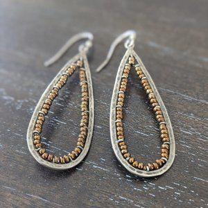 Silpada Sterling Silver + Bead Teardrop Earrings